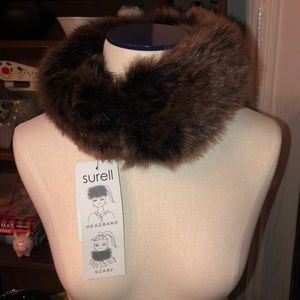 SURELL faux fur headband, collar or scarf.  New.